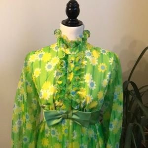 Fabulous Vintage 60's? Formal Floral Dress